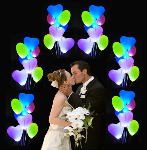 LED Luftballons Hochzeit
