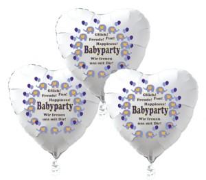 schwebende Herzluftballons Babyparty